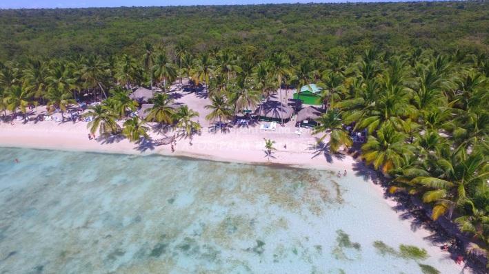 Zona privada de almuerzo y playa saona completa VIP